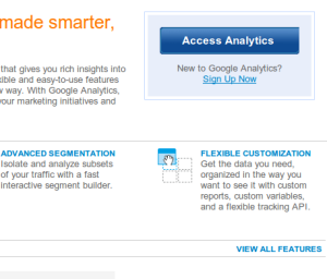 Google Analytics Access Screen