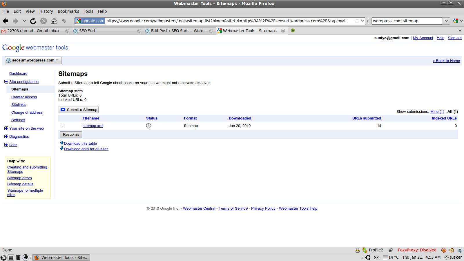 Google Sitemap.xml Example