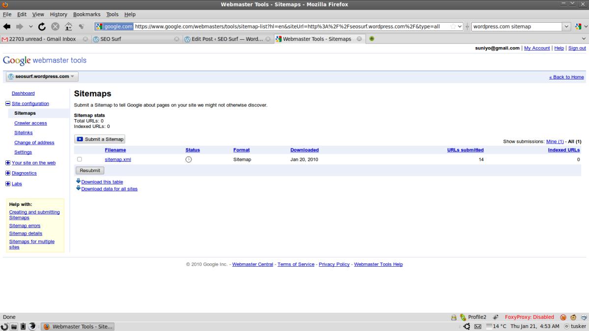 Google Sitemap Submit